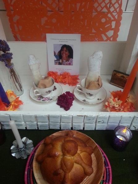 altar to artist Irene