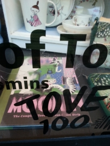 shop window display for Tove Jansson centenary