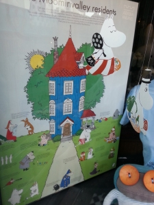 poster showing Moomin Valley residents